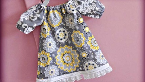 Sewing For Baby – Free Dress Pattern and Video Tutorial | DIY Joy Projects and Crafts Ideas
