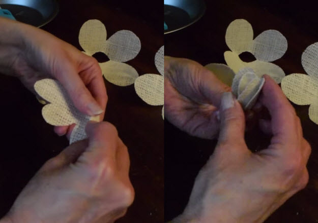 DIY Projects   How to Make Fabric Flowers   DIY Projects & Crafts by DIY JOY at http://diyjoy.com/how-to-make-burlap-roses-tutorial
