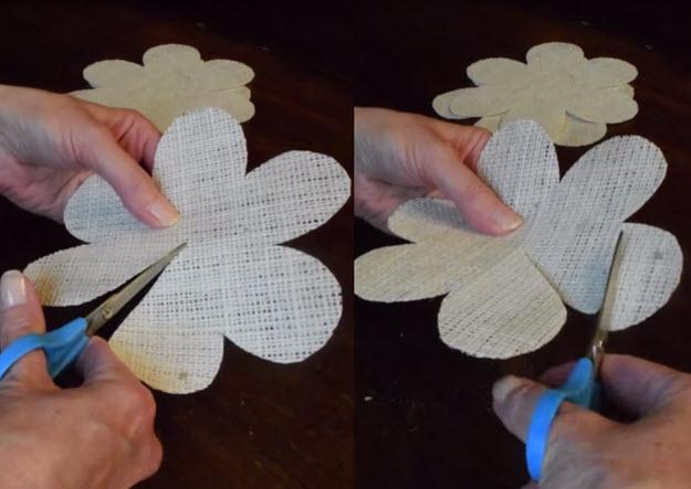 Easy DIY Tutorial   How to Make Burlap Roses   DIY Projects & Crafts by DIY JOY at http://diyjoy.com/how-to-make-burlap-roses-tutorial