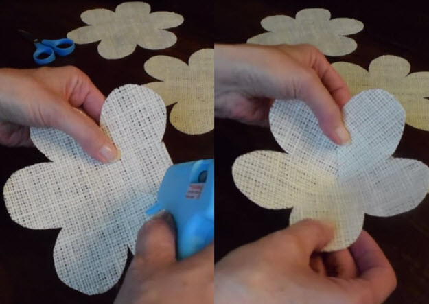 DIY Project Ideas   Burlap Flowers Tutorial   DIY Projects & Crafts by DIY JOY at http://diyjoy.com/how-to-make-burlap-roses-tutorial