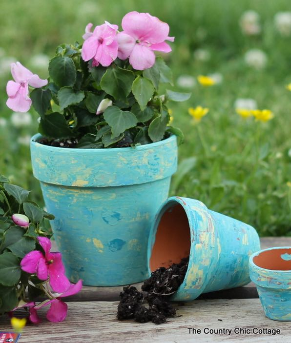 DIY Country Crafts Rustic Terra Cotta Pots