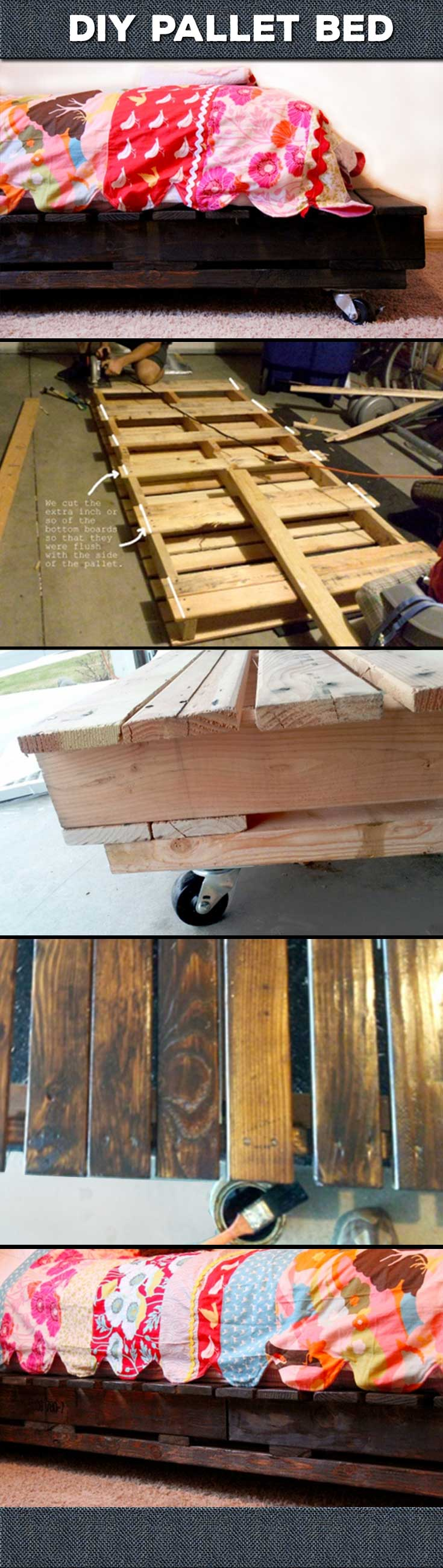 DIY Pallet Bed Tutorial for Rustic Home Decor Ideas