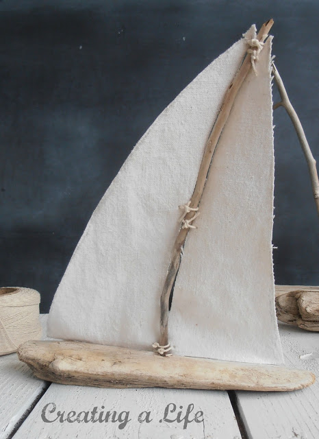 DIY Crafts for the Home | Rustic Driftwood Sailboats Tutorial
