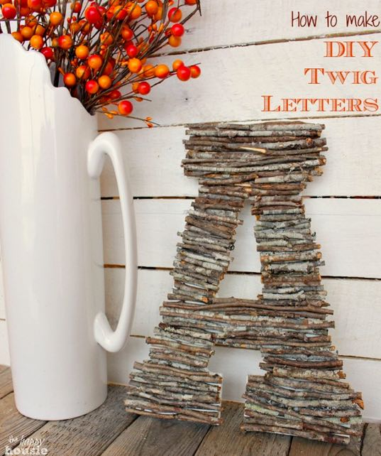 How To Make DIY Letters With Twigs - Tutorial and How To