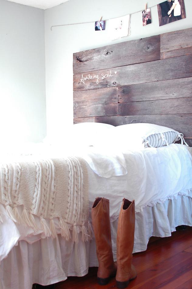 DIY Home Decor Projects - Barnwood Headboard