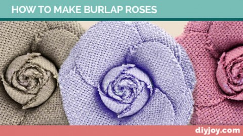 How To Make Burlap Roses   DIY Joy Projects and Crafts Ideas