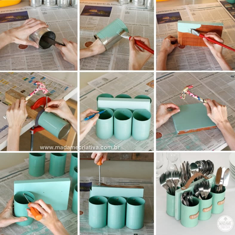 diy silverware caddy rustic home decor projects - Diy House Decor