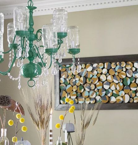 diy mason jar chandelier vintage home decor ideas