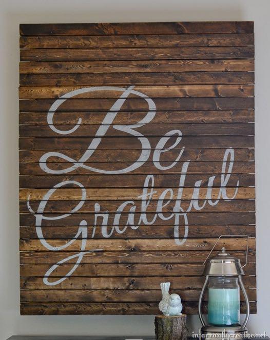 DIY Pallet Sign Tutorial | Pallet Word Art - Be Grateful