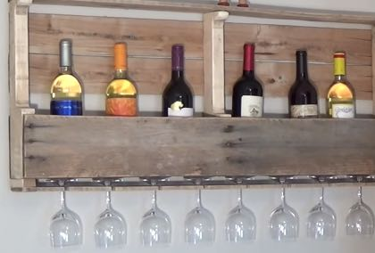 DIY Pallet Wine Rack | Do It Yourself Home Decor Ideas