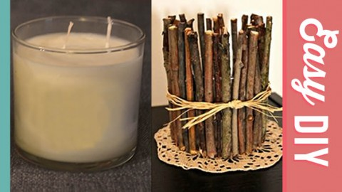 DIY Twig Candle Holder | DIY Joy Projects and Crafts Ideas
