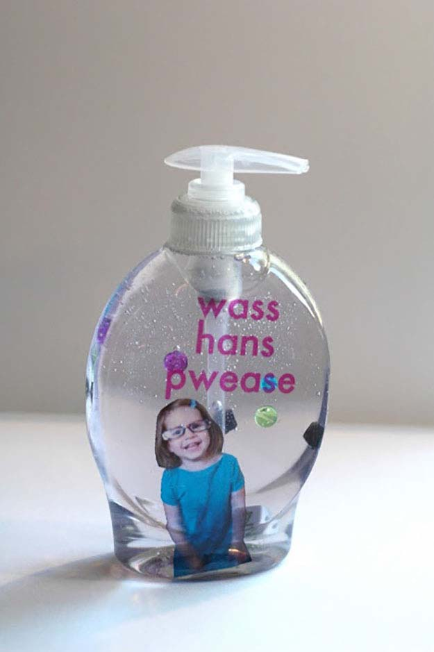 Easy Crafts for Kids   Cheap DIY Home Decor on a Budget   DIY Bathroom Soap Dispenser   DIY Projects and Crafts by DIY JOY at http://diyjoy.com/craft-ideas-diy-soap-dispensers