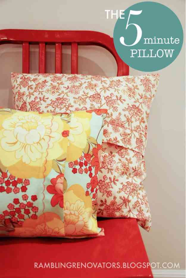 Easy Sewing Projects | DIY Pillow Tutorial #sewingideas #sewingprojects