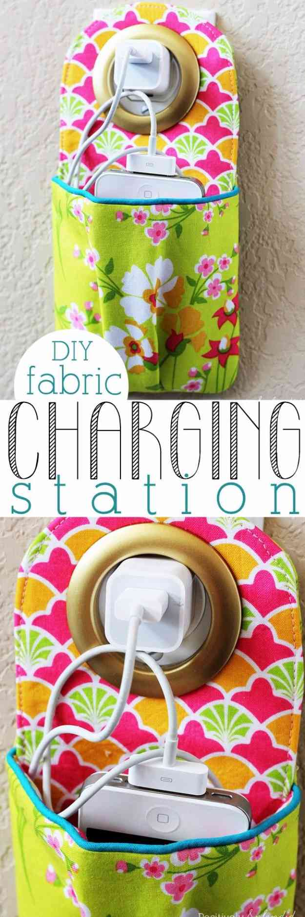 Sewing Projects to Sell | Easy DIY Charging Station #sewingideas #sewingprojects