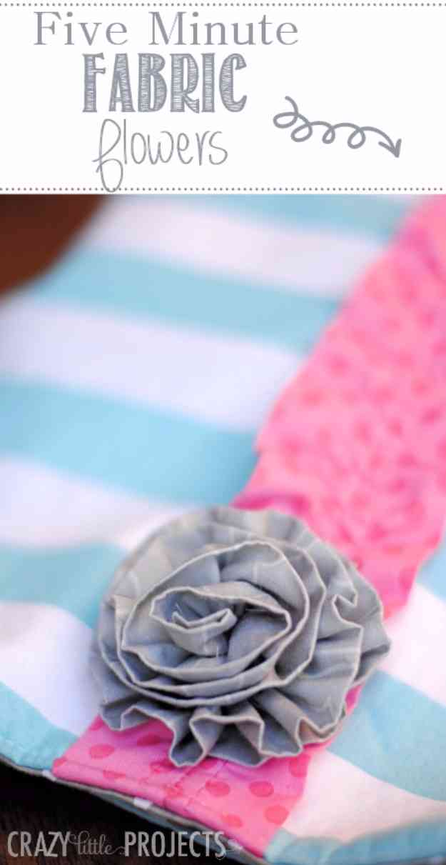 Sewing Ideas for Women | How to Make Fabric Flowers at http://diyjoy.com/quick-sewing-projects-diy-ideas