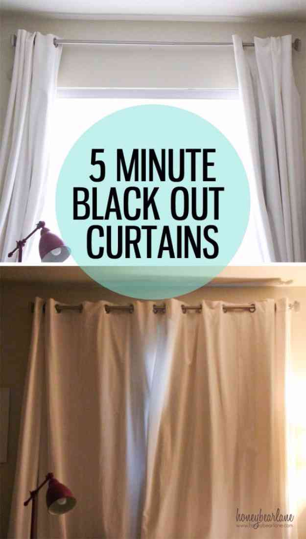 Sewing Ideas for the Home | DIY Blackout Curtains Tutorial #sewingideas #sewingprojects
