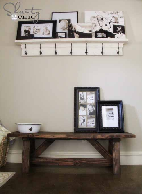 DIY Home Decor Projects - Rustic Entry Bench Tutorial