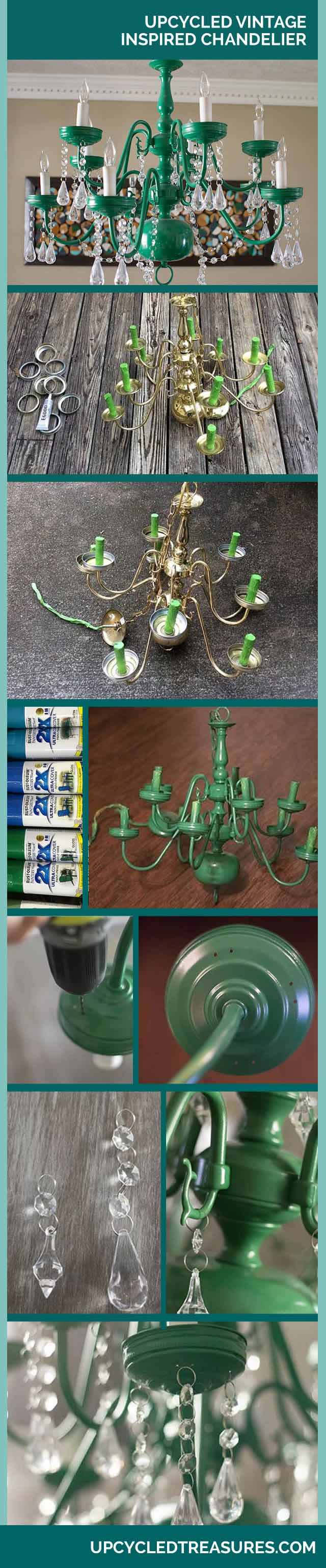 DIY Mason Jar Chandelier - Vintage Home Decor Ideas