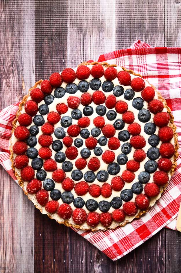 4th of July Desserts Vegan Tart Recipe | DIY Projects & Crafts by DIY JOY #fourthofjuly #july4th #desserts