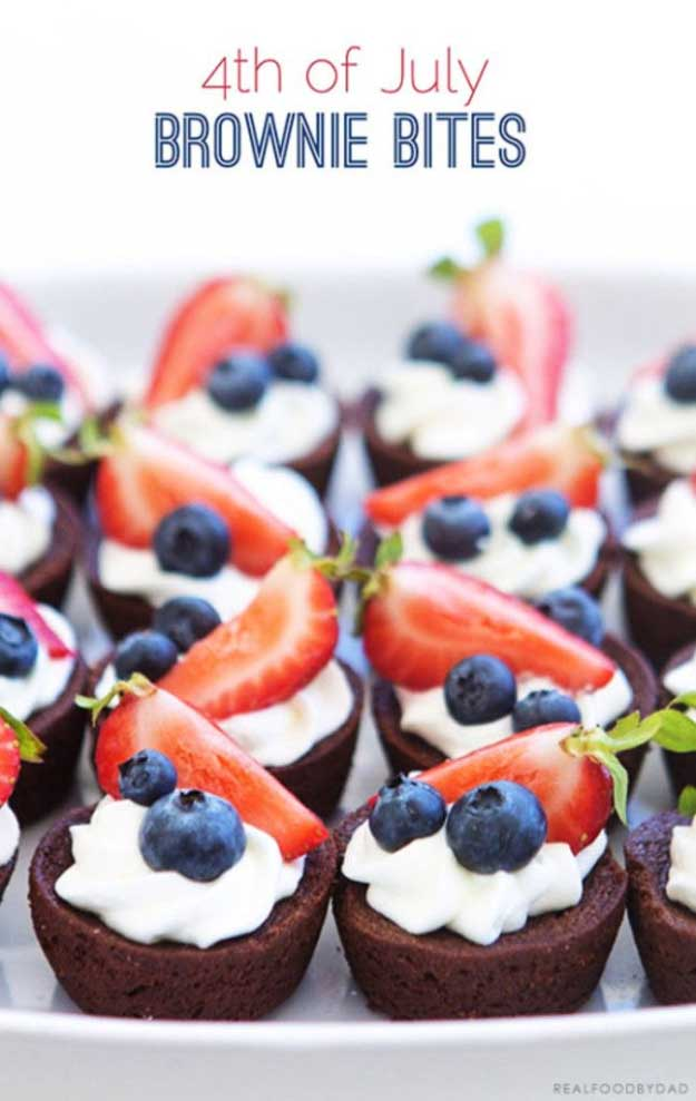 4th of July Desserts Brownie Bites Recipe | DIY Projects & Crafts by DIY JOY at http://diyjoy.com/4th-of-july-desserts-pinterest