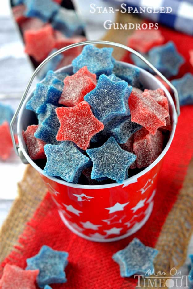 4th of july desserts red-white-blue-gumdrops | DIY Projects & Crafts by DIY JOY #fourthofjuly #july4th #desserts