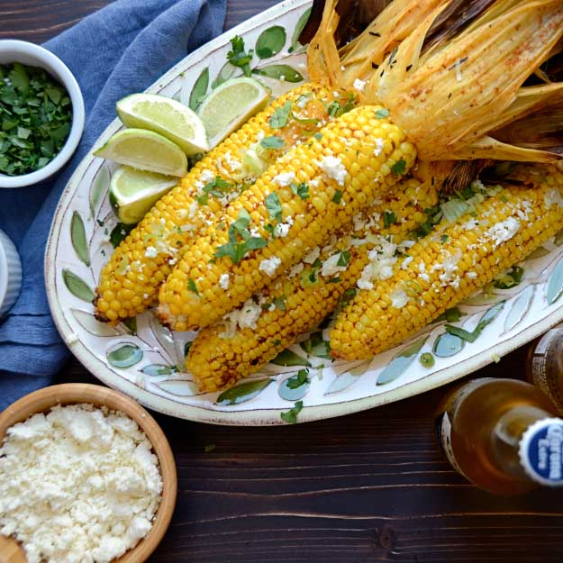 Best 4th of July Recipes and Backyard BBQ ideas - Grilled Corn at http://diyjoy.com/best-4th-of-july-recipes-ideas