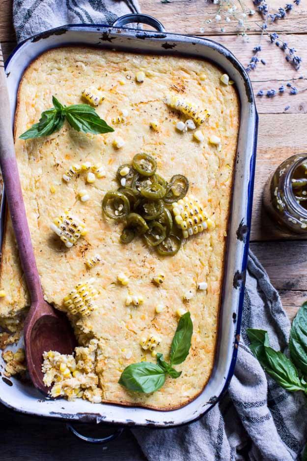4th of July Recipes Corn Casserole at #fourthofjuly