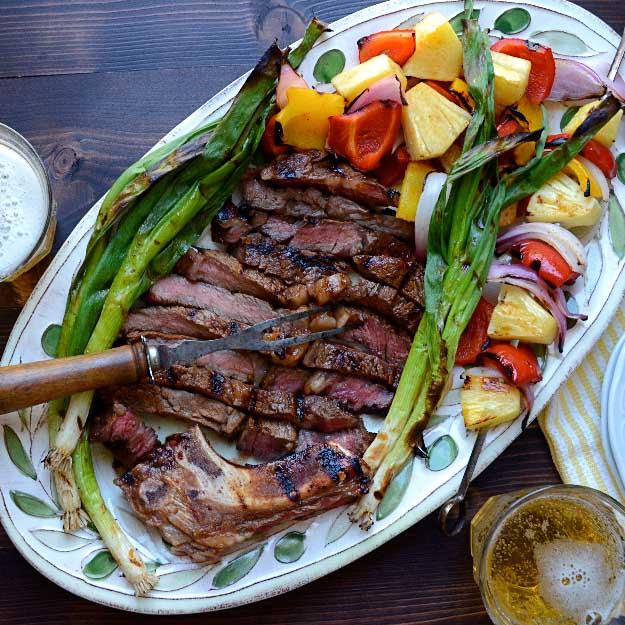 Best 4th of July Recipes and Backyard BBQ ideas - Grilling Recipes Marinated Rib Eye at #fourthofjuly