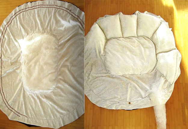 Most Awesome Diy Pet Bed Ever It S Fluffy