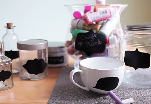 How to Make Chalkboard Organizers