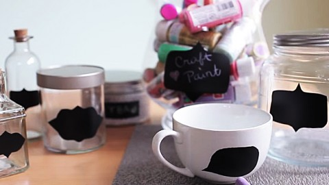 How to Make Chalkboard Organizers | DIY Joy Projects and Crafts Ideas