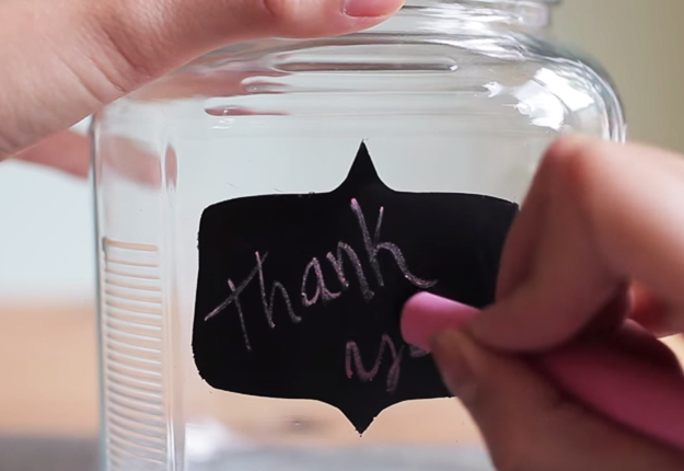 DIY Crafts for the Home | Organization Ideas and Storage Tips | How to Make Chalkboard Containers | DIY Projects and Crafts by DIY JOY at http://diyjoy.com/organization-ideas-chalkboard-labels