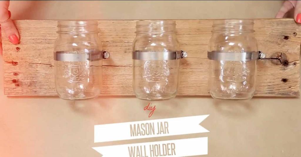 Diy Mason Jar Wall Organizer Diy Joy