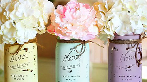 How to Make Chalk Paint Mason Jars | DIY Joy Projects and Crafts Ideas
