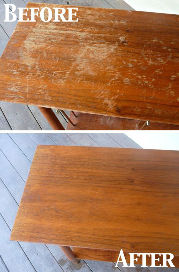 Easy DIY Cleaning Hacks | Tips And Trips To FIx Scratches On Wood | DIY  Projects