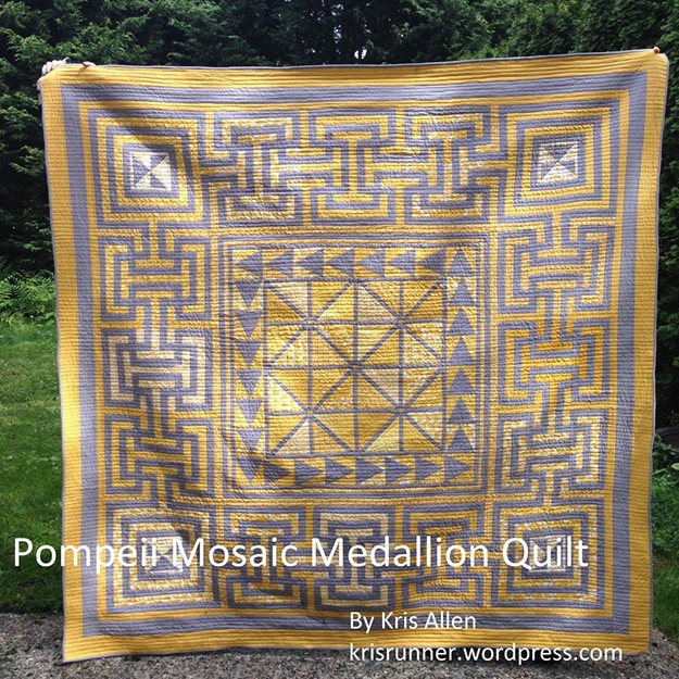 Free Sewing Pattern | Crazy Mosaic Medallion Quilt Pattern | DIY Projects & Crafts by DIY JOY at
