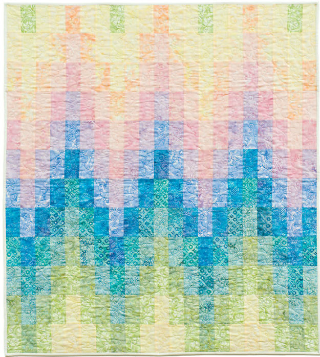 Free Baby Quilt Pattern | Bargello Quilt Sewing Tutorial | DIY Projects & Crafts by DIY JOY at http://diyjoy.com/free-quilt-patterns-easy-sewing-projects