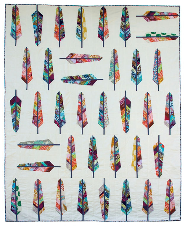 Unique Quilt Pattern | Easy Feather Pattern Quilt | DIY Projects & Crafts by DIY JOY at http://diyjoy.com/free-quilt-patterns-easy-sewing-projects