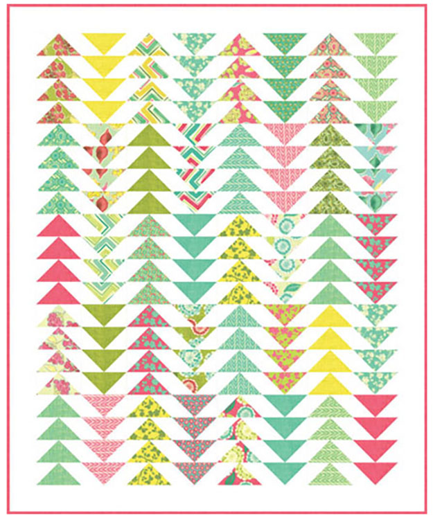 Triangle Quilt Pattern   Free Sewing Pattern   DIY Flying Geese Quilt   DIY Projects & Crafts by DIY JOY at