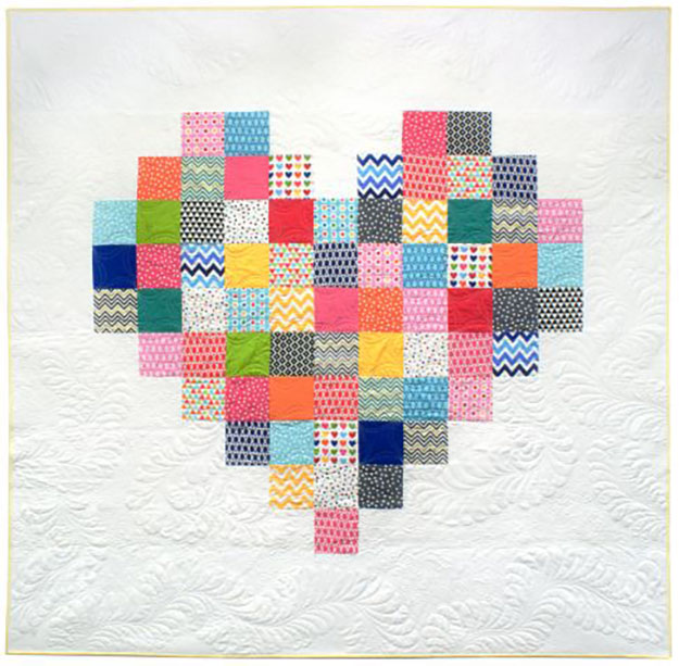 Simple Quilt Pattern | Patchwork Heart Quilt | DIY Projects & Crafts by DIY JOY at