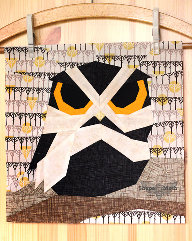 Unique Quilt Pattern Ideas   Free Sewing Pattern for Owl Quilt   DIY Projects & Crafts by DIY JOY at