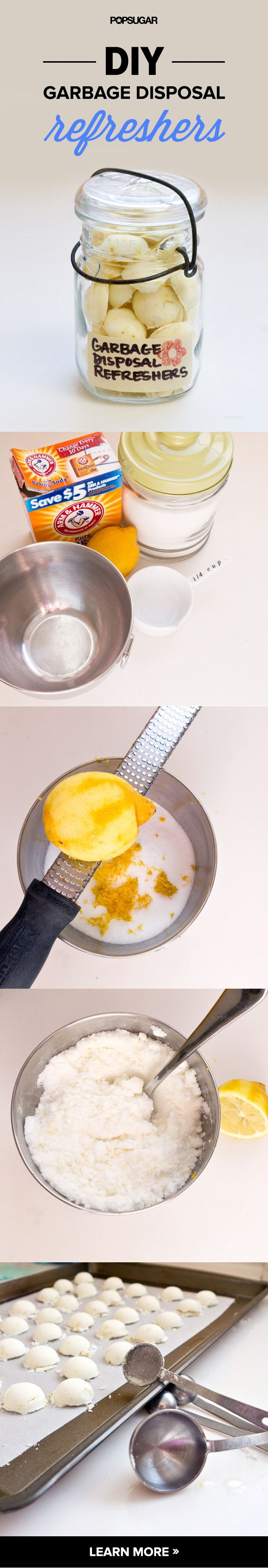 Easy Cleaning Hacks for the Kitchen Sink | Garbage Disposal Refreshers | DIY Projects & Crafts by DIY JOY at http://diyjoy.com/cleaning-tips-life-hacks
