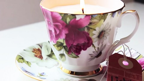 How to Make Candles in Teacups | DIY Joy Projects and Crafts Ideas