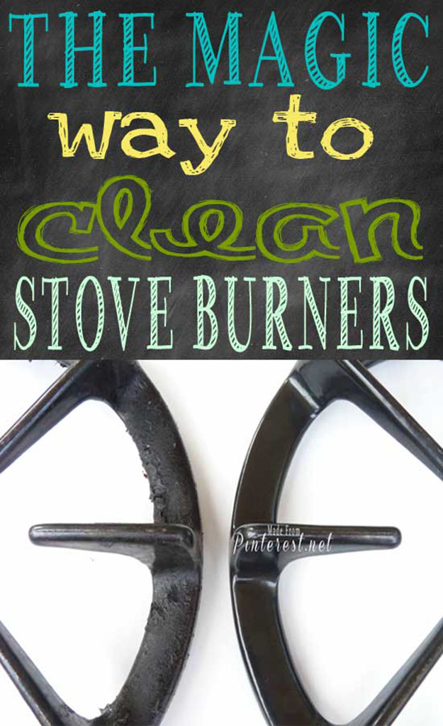 DIY Cleaning Hack for the Kitchen | How to Clean Stove Burners | DIY Projects & Crafts by DIY JOY at http://diyjoy.com/cleaning-tips-life-hacks