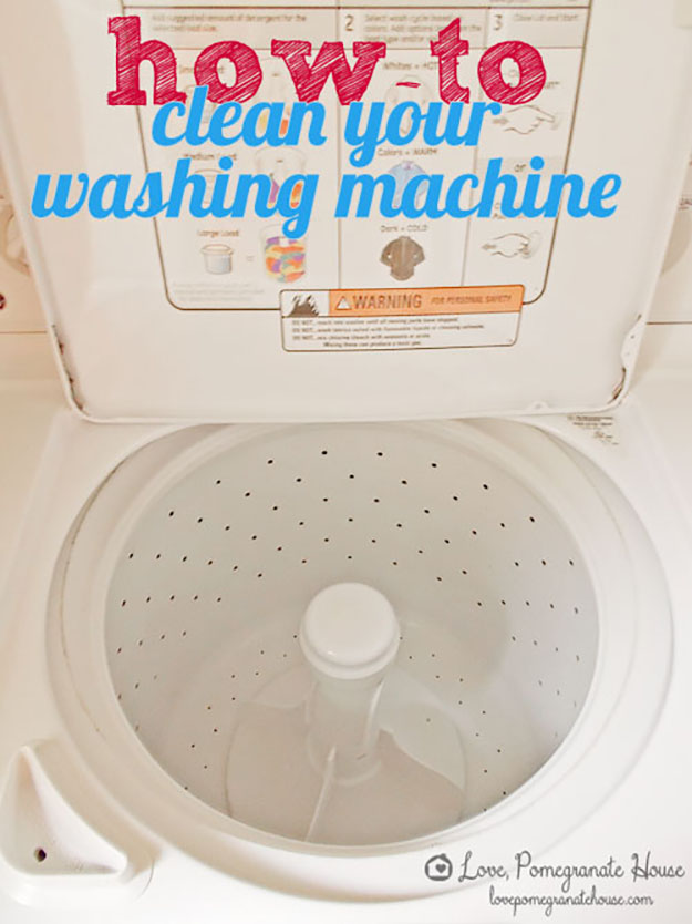 Deep Cleaning Hacks for the Home | How to Clean Your Washing Machine | DIY Projects & Crafts by DIY JOY at http://diyjoy.com/cleaning-tips-life-hacks