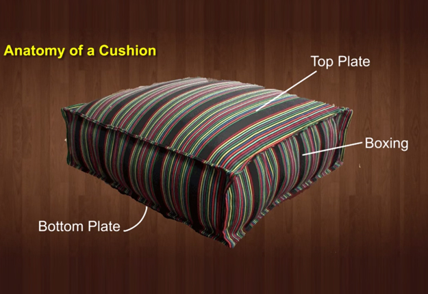 How-to-Make-a-French-Mattress-Style-Cushion-1.1 | DIY Projects & Crafts by DIY JOY at http://diyjoy.com/diy-furniture-outdoor-cushion-covers
