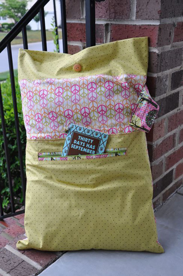 DIY Sewing Projects- Pillowcase Ideas - Sleepover Pillowcase DIY #sewing #pillowcases