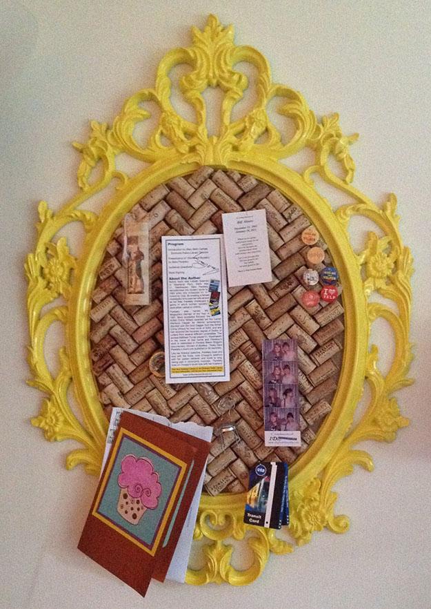 Easy DIY Wine Cork Board Project Ideas - DIY Wine Cork Board in a Frame - DIY Projects & Crafts by DIY JOY