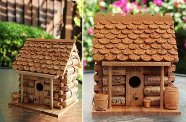 Wine Cork Crafts for Kids to Make - Wine Cork DIY Birdhouse - DIY Projects & Crafts by DIY JOY #crafts