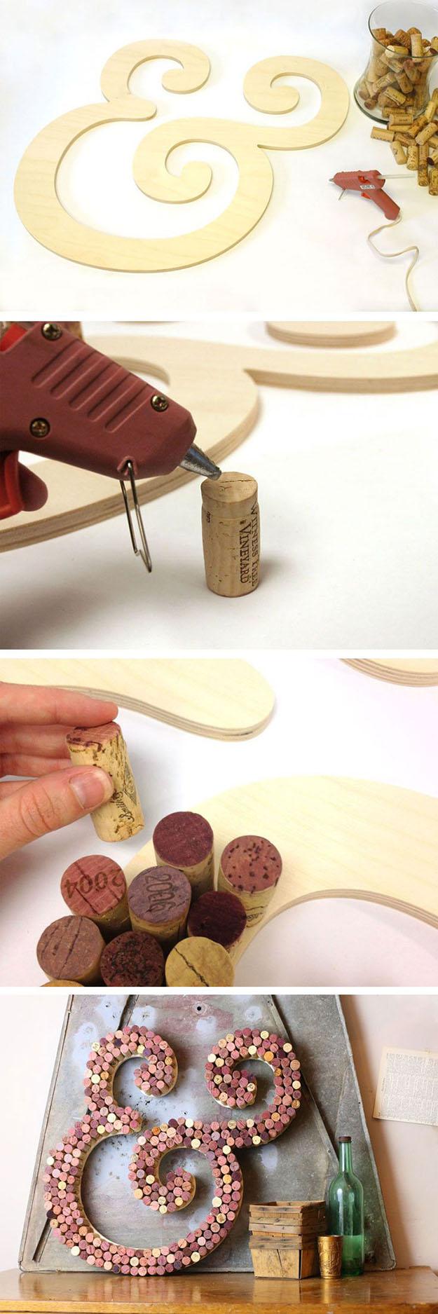 Easy Wine Cork DIY Wall Decor Projects
